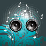 Music speaker background Stock Photos