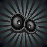 Music speaker background Royalty Free Stock Photography