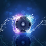 Music Speaker Blue Background Stock Images