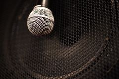 Music speaker close up Royalty Free Stock Photo