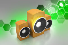 Music speaker. In color background Royalty Free Stock Images