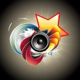Music speaker design vector illustration