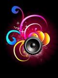 Music speaker  design Royalty Free Stock Image
