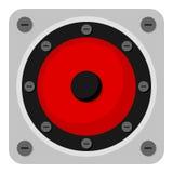 Music Speaker Flat Icon Isolated on White Stock Photography