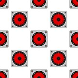 Music Speaker Flat Icon Seamless Pattern Royalty Free Stock Images