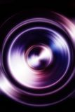 Music Speaker with fractal color blur effect on black background Stock Photography