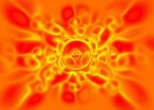 Music speaker on an orange background Stock Image