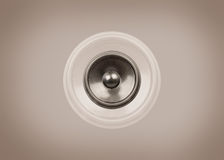 Music speaker on a sepia background Stock Images