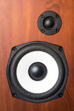 Music speaker on wood background Stock Photography