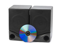 Music speakers and cd Stock Photos
