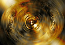 Music speakers on a gold background Stock Images