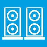 Music speakers icon white Royalty Free Stock Photo