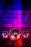 Music speakers and party lights Stock Photography