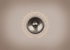 Music speakers on a sepia background Royalty Free Stock Photography