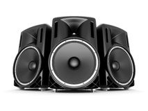Music speakers Royalty Free Stock Photo