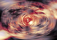 Music speakers on a swirling background Stock Photos
