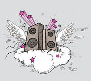 Music speakers Royalty Free Stock Image