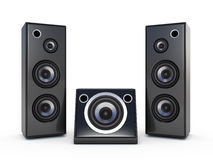 Music speakers Stock Photo
