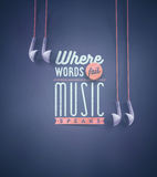 Music Speaks Royalty Free Stock Images