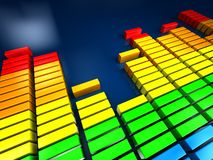 Music spectrum Royalty Free Stock Image