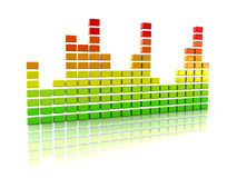 Music spectrum Stock Image