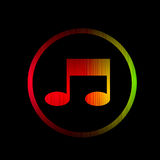 Music spectrum glowing isolated on black Royalty Free Stock Photos