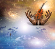 Music of the spheres Royalty Free Stock Images