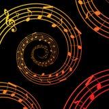 Music spiral Stock Photos