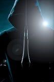 Music in the spotlight Stock Image