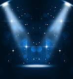 Music Stage Spotlights Stock Photography