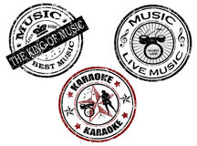 Music stamp Stock Photo