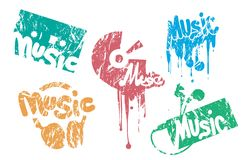 Music Stamp. Set of vector music stamp Royalty Free Stock Image