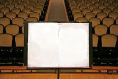 Music stand stock photography