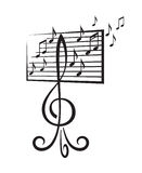 Music stand Stock Photo