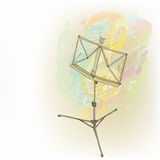 Music stand abstract composition Stock Photo