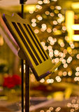Music Stand At Christmas Tree Stock Images