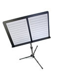 Music Stand with Blank Paper. Music Stand with blank sheet music paper Royalty Free Stock Photos