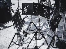 Music Stand Concert equipment on stage Art Entertainment Stock Images