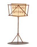Music stand. Illustration of a music stand with sheet stock illustration
