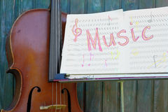 Music Stand And Instrument Royalty Free Stock Images
