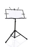 Music stand isolated on white background Royalty Free Stock Image