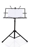 Music stand isolated on white background Stock Photography