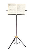 Music stand with piano notes isolated Royalty Free Stock Photo