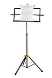 Music stand with piano notes isolated Stock Photography