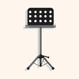 Music stand theme elements vector,eps Royalty Free Stock Photos