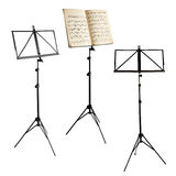 Music stands isolated with clipping path Stock Image