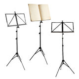 Music stands isolated with clipping path Royalty Free Stock Photo