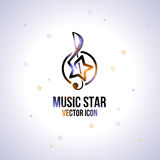 Music star icon. Royalty Free Stock Image