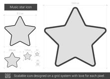 Music star line icon. Royalty Free Stock Image