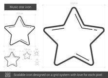 Music star line icon. vector illustration